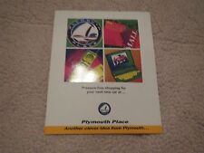 1996 1997 PLYMOUTH PROWLER NEON BREEZE VOYAGER PRESSURE FREE SHOPPING BROCHURE