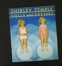 SHIRLEY TEMPLE 1934 DOLLS AND DRESSES PAPER DOLL BOOKLET w/ WARDROBE    UNCUT