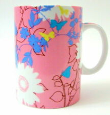 Starbucks 2006 Spring Flowers Butterflies Pink Coffee Mug Cup 15 oz Collectible