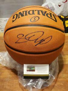 Lebron James Autographed Pro Basketball w/COA 4 Time CHAMPION