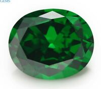 Unheated 10x12mm 7.22ct Green Natural Emerald Diamonds Cut Oval VVS Loose Gems