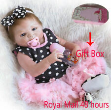 Full Body Silicone Reborn Baby Girl Doll Handmade Lifelike Newborn Kid Xmas Gift