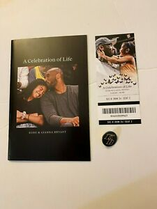 Kobe Bryant A Celebration of Life Memorial Items - Booklet Ticket & Pin