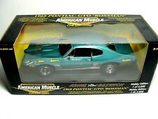 Autographed 1968 Pontiac GTO Turquoise Arnie Beswick 1:18 Ertl American Muscle