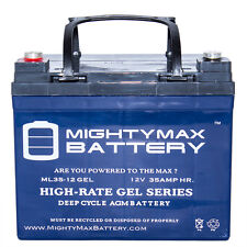 Mighty Max 12V 35AH GEL Battery Replacement for Sevylor Minn Kota Marine