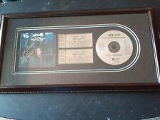 "Gordon Lightfoot Signed 21""×11"" Framed CD Cover, Tickets, And CD Set"