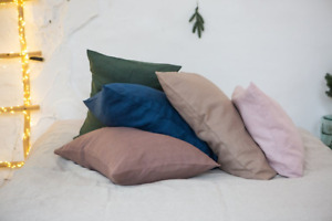 Organic & Natural Eco linen pillowcases with envelope closure.