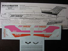 1/144 SCALE-MASTER DECALS BOEING 727-193 AIR WEST DECALCOMANIES