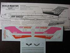 1/144 SCALE-MASTER DECALS BOEING 727-193 AIR WEST DECALCOMANIES