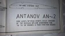 Model aircraft plan (Antanov AN~2)