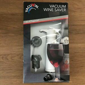 The Original VacuVin Wine Saver Pump in White