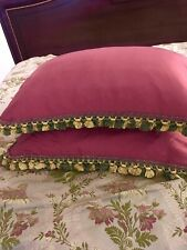 Custom Made King Size Duvet Cover And 2 Shams With French Trim