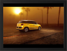 """SUNSET FIAT 500L A3 FRAMED PHOTOGRAPHIC PRINT 15.7""""x11.8"""""""