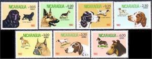 Nicaragua Cocker Spaniel Setter Boxer Pointer Collie German Shepherd MNH ** (9)