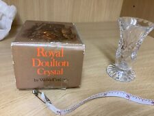 Royal Doulton Lead Crystal Vase, Tiny Boxed