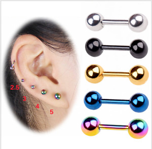 AUS SURGICAL STEEL BALL EAR STUD LIP RING HELIX CARTILAGE EARRING NIPPLE STUDS