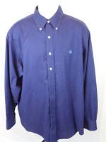 Brooks Brothers Mens XLarge Blue Long Sleeve Button Front Dress Shirt XL