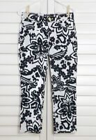 CHICO'S NWT $99 So Lifting Abstract Floral Cropped Pants Size 00 US XS 0 / 2