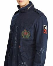 POLO RALPH LAUREN Yale M6 Peace print Combat Jacket AVIATOR NAVY Men's M New