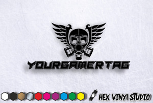 Custom Gamer Tag Text Name PC case Console Laptop Stickers Decals