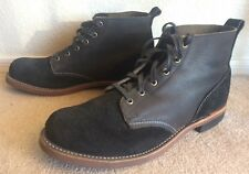 Broken Homme boots Sz 12 Monkey Boot Two Tone Black Leather Suede USA Made Work