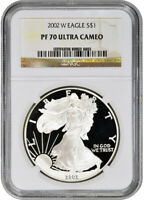 2002-W American Silver Eagle Proof - NGC PF70 UCAM
