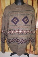 Timberland ALPACA Wool Thick Nordic Sweater size large Olive green italy