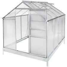 Serra da giardino in alluminio con base per piante orto casetta esterno 7,7m³
