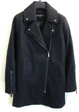 Kenneth Cole Winter Coat Size 4 S Black Wool Silver Studs Retail $300