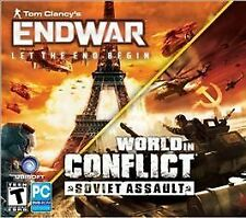 Tom Clancy's End War Let the End Begin + World in Conflict Soviet Assault PC New