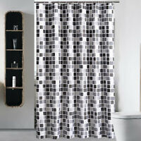 Mosaic Geometric Waterproof Bathroom Shower Curtain Bathroom Extra Long + Hooks