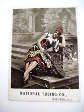 "Vintage Victorian Trade Card for ""National Tubing Co. w/ Colored Picture *"