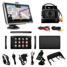 7 Zoll PKW LKW Navigationsgerät mit Rückfahrkamera Bluetooth Freisprechen Blitze