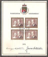 TIMBRE LIECHTENSTEIN FEUILLET 1ER JOUR FDC 1974 N°557 OBLITERE USED