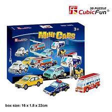 CubicFun 3D Paper Puzzle Model Mini Police Car Bus Fire Engine DIY Building Toy