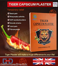 HERBAL PAIN RELIEF TIGER CAPSICUM PLASTER MUSCLE NECK ARTHRITIS REMEDY PATCH -UK