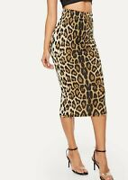 Sexy Mid Waist Animal Bodycon Pencil Long Skirt Casual Work Party