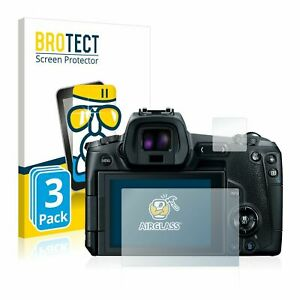 Canon EOS R, 3 x BROTECT® AirGlass® Premium Glass Screen Protector, Anti-Scratch