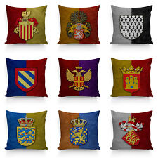 Middle Age Coat of arm Pillowcase Achievement With Crown Pillow Cover Home Decor