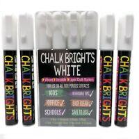 4  White Liquid Chalk Pens Marker Glass Windows Reversible Menu Bistro Board