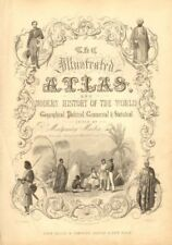 TALLIS ILLUSTRATED ATLAS TITLE PAGE. Figures represent 4 continents 1851 print