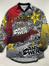 ROCKSTAR ANSWER Moto Cross  All Over Print Racing Jersey Mens Medium A+ Clean