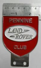 Land Rover Series 1 2 A PENNINE CLUB Badge Aluminium DEFENDER Vintage FOR SALE