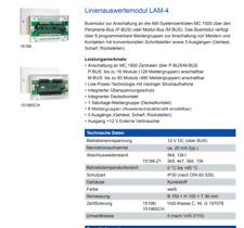 ABI Sicherheitssysteme M-Bus 4-fach Linienauswertemodul LAM-4 15198UO