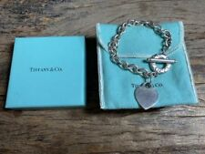 Authentic Tiffany & Co Sterling Silver Heart Tag Toggle Bracelet