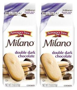 Pepperidge Farm Milano Double Dark Chocolate Cookies 2 Bag Pack