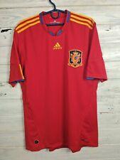 Spain Jersey 2010 2011 Home L Shirt Mens Red Camiseta Football Adidas P47902