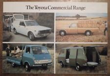 TOYOTA VANS & PICK-UPS orig 1976 UK Mkt Sales Brochure - Corolla Hi Lux Hi Ace
