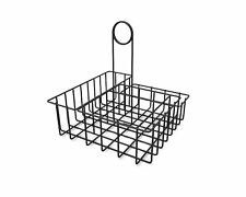 Square Wire Condiment Caddy Stand Salt Pepper Sugar Ketchup