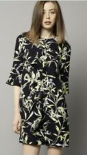 bnwt marks and spencer Black/ Yellow Ruffle Dress Size 14